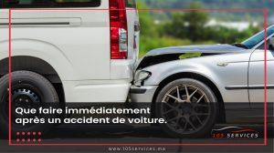 Accident de Voiture - 105 Services Marrakech